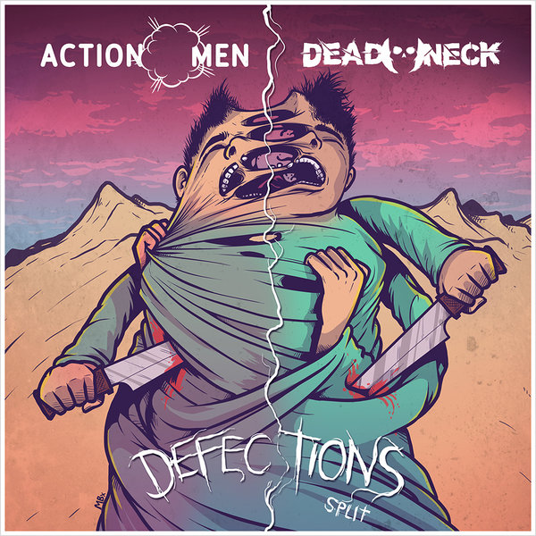 "ACTIONMEN / DEAD NECK ""Defections Split"""